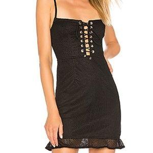 NWOT Black Corset Lace-up Party Dress!!!